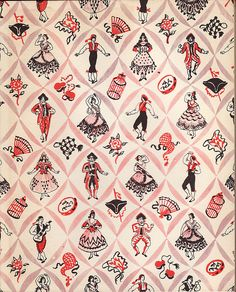 Hoopy* via Flickr Inside cover of an illustrated ballet book, The Three Cornered Hat c. 1940. Illustrations by Alexandre Serebriakoff.