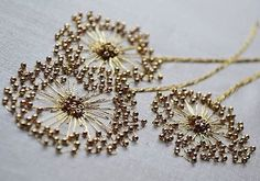 lovely--Etincelle Creative STUDIO: Course at Lesage in Paris - Salvabrani Bead embroidery stitches add sparkle to the ordinary – Artofit Learn the couture embellishment technique of tambour beading with world-renown experts, Hand and Lock, the company w Bead Embroidery Patterns, Tambour Embroidery, Couture Embroidery, Embroidery Fashion, Silk Ribbon Embroidery, Embroidery Jewelry, Hand Embroidery Designs, Beaded Embroidery, Embroidery Stitches