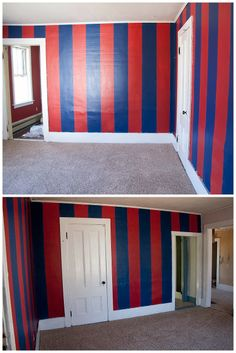Rachelle Chase Blog: Barcelona Soccer Bedroom ~ Before And After. How To  Paint Stripes