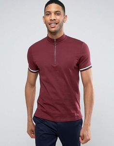Get this Asos's turtleneck t-shirt now! Click for more details. Worldwide shipping. ASOS T-Shirt With Zip Turtle Neck And Sleeve Rib In Burgundy - Red: T-shirt by ASOS, Soft-touch jersey, Turtle neck, Zip fastening, Fitted ribbed cuffs, Contrast tipping, Regular fit - true to size, Machine wash, 100% Cotton, Our model wears a size Medium and is 189cm/6'2.5 tall. ASOS menswear shuts down the new season with the latest trends and the coolest products, designed in London and sold across the…