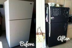 Chalk board refridgerator!!