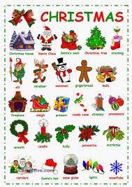 Αποτέλεσμα εικόνας για christmas vocabulary worksheets for elementary students