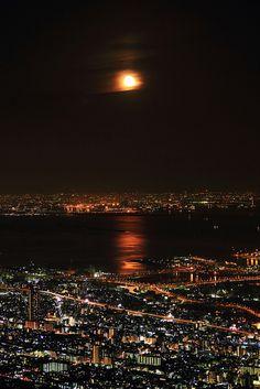 View from Kikuseidai, Mt. Maya, Kobe, Japan 摩耶山掬星台からの夜景