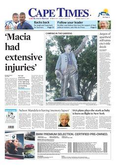 News making headlines:   Nelson Mandela is having 'memory lapses'