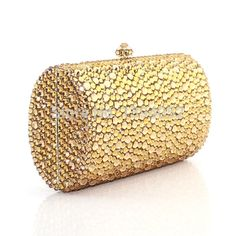Luxury Gold Shiny Ladies Handmade Crystal Clutch Evening Bags