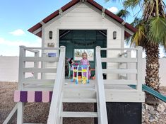 Operation Clubhouse {DIY Playhouse with Slide} Playhouse With Slide, Wood Playhouse, Backyard Playhouse, Playhouse Plans, Backyard Playground, Backyard For Kids, Backyard Ideas, Simple Playhouse, Gazebo Ideas