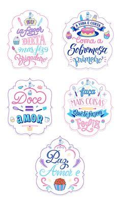Lettering Tutorial, Lettering Design, Logo Doce, Candy Logo, Bakery Business Cards, Instagram Blog, Printable Designs, Candy Colors, Design Reference