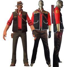 team fortress 2 tf2 sniper shooter vest pants uniform halloween cosplay costume - Halloween Bullet Proof Vest
