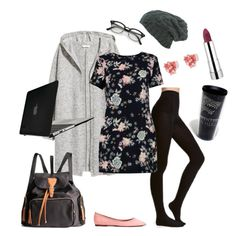 Quiet Cafe Work Space by melannbarrett on Polyvore featuring polyvore, fashion, style, Boohoo, H&M, Speck, Tervis, clothing, casualoutfit, cafe, library, coffeeshop and study