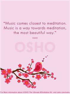 Music comes closest to meditation - Osho Meditation Quotes, Daily Meditation, Mindfulness Meditation, Meditation Music, Zen Quotes, Gratitude Quotes, Qoutes, Transcendental Meditation Technique, Meditation Techniques