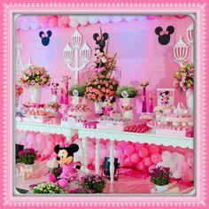 Edfau Festas: Minie Rosa para Gabriela