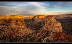 lsten posted a photo:  Colorado National Monument is an area of spectacular canyons cut deep into sandstone near Grand Junction, Colorado. Located on Great Bain Desert, rugged terrain consists of pinion and juniper forests.  The main feature, Monument Canyon, runs through the entire National Monument and consists of multiple rock formations created by erosion. These rock formations include e.g. Independence Monument, which rises 150 metres above the canyon floor.  There are various stories…
