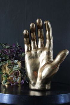 The open palm is often seen as a symbol of peace which makes the Large Gold Decorative Hand Ornament the perfect treasure for you and your home or as a gift to a friend or loved one. Decorative Accessories, Decorative Items, Home Accessories, Show Of Hands, Rockett St George, Black Table, Gold Hands, Living Room Decor, Vintage Fashion