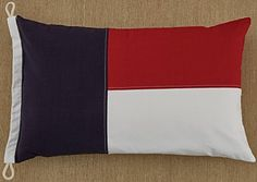 "Nautical Flag Pillow Cover - 16"" x 26"" - 1 piece Split P https://www.amazon.com/dp/B0787RSNZ8/ref=cm_sw_r_pi_dp_U_x_WT8RAbWBCTGX6"