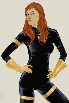 Jean Grey by Dave Seguin Logan Wolverine, Marvel Comics, Nate Grey, X Men Personajes, Phil Noto, Jean Grey Phoenix, Dark Phoenix, The Wicked The Divine, Avatar