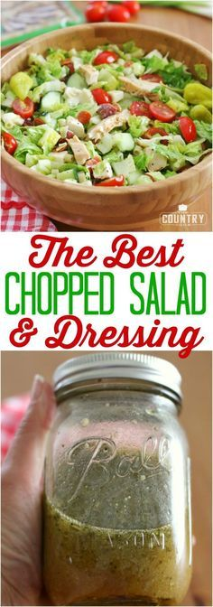 The Best Chopped Salad and Dressing recipe from The Country Cook