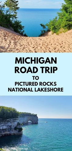 michigan road trip to great lakes. best places to visit in the midwest. lake superior. hiking trail and beach. national park lakeshore. hiking, camping, campground, backpacking. camping spots. backcountry. us outdoor travel destinations. vacation spots, ideas, places in the US. michigan things to do upper peninsula up north. US outdoor vacation road trip midwest from wisconsin, chicago, minnesota, illinois, indiana, ohio