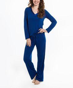 Look at this Pajama Drama Sapphire Super Soft Pajama Set - Women on #zulily today!
