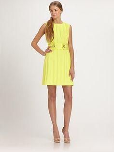 Stunning Shift Dress in Yellow!