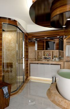 luxury yachts | ... Andrea VI - Bathroom — Luxury Yacht Charter & Superyacht News