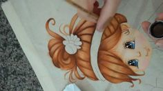 Como pintar cabelo. Doll Painting, Fabric Painting, Painting & Drawing, Painting Videos, Easy Paintings, Tole Painting Patterns, Basic Drawing, Country Paintings, Silk Art