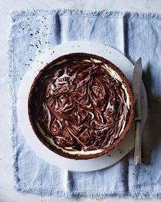 Marbled chocolate cheesecake