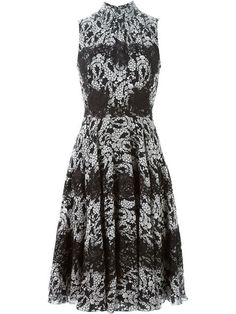 Shop Dolce & Gabbana floral print flared dress in Profile from the world's best independent boutiques at farfetch.com. Shop 300 boutiques at one address.