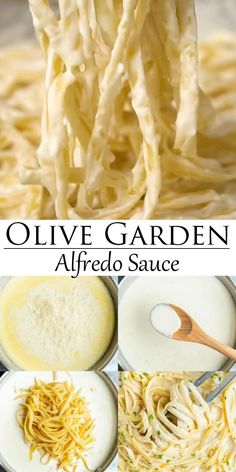 This easy Alfredo Sauce recipe from Olive Garden is a 20 minute meal that goes with any kind of pasta! # Food and Drink vegetarian Olive Garden Alfredo Sauce Restaurant Recipes, Dinner Recipes, Sauce Recipes, Cooking Recipes, Recipe Of Pasta, Pasta Recipes No Meat, Pasta Recipes Video, Paleo Pasta, Bacon Recipes