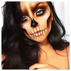 Image result for gold sugar skull makeup