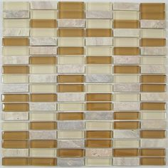 Nerino Mocha Creme Glass and Stone Tile A206SB at DiscountBathroomVanities.com