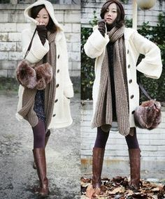 Women's Hooded Flare Sleeve Long Cardigan Coat on BuyTrends.com, only price $20.44