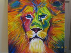 Original Lion Painting by brittanels on Etsy, $300.00