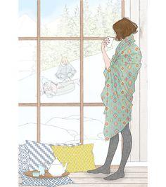 illustration delphine soucail ski.jpg - Delphine SOUCAIL | Virginie