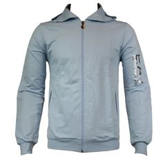 EA7 Emporio Armani Mens Sweat Hoody in Sea Blue - official sponsors of the Italian 2012 Olympic team.  Visit www.hypedirect.com