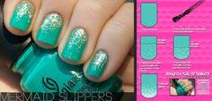 Mermaid Slippers Nails Tutorial