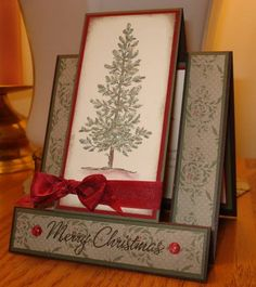 Lovely As A Tree Centre Step Card by arlybeans - Cards and Paper Crafts at Splitcoaststampers