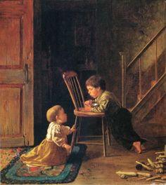 Eastman Johnson (American painter, 1824-1906) Lunchtime