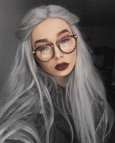 Silver wig by vncvt silver wigs, silver hair, grey hair, hair color, Grey Hair Wig, Silver Grey Hair, Silver Wigs, Silver Hair Tumblr, Dark Grey Hair, Lace Hair, Ash Grey, Brown Hair, Grunge Hair