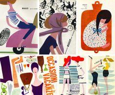 gorgeous retro illustrations