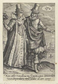 September - Paar uit Engeland, Crispijn van de Passe (II), 1604 - 1670