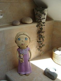 Wau... Paper Clay, Paper Mache, Clay People, Pottery Sculpture, Salt Dough, Ooak Dolls, Ceramic Art, Statues, Polymer Clay