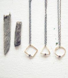 geometrics necklaces by ripe goods.