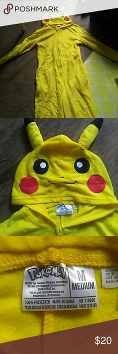 Pikachu zip-up Onesie Put this on and turn into a wild Pikachu! Pokemon Other