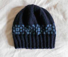 Fair Isle hat in navy