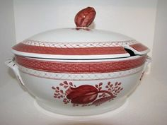 Red Soup Tureen | Royal Copenhagen Red Tranquebar Large Soup Tureen | eBay