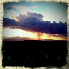 Monsoon sky at sunset, NM