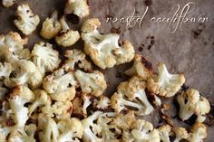 Roasted Cauliflower - {Raisin & Fig} Eat it like popcorn!#Roasted #Cauliflower How do you like to eat cauliflower? Find this recipe and tell me your favorite cauliflower recipe at: http://www.raisinandfig.com/roasted-cauliflower-quick-easy/#more-1982