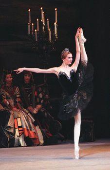 """Svetlana Zakharova """"Odile"""" dans """"Le Lac des Cygnes"""". Bolshoi Ballet, Moscow."""