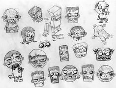 some cool zombie sketch/doodle  via www.macula.tv