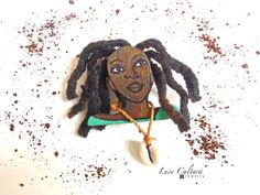Brooch  ERZULIE  Caribbean Groovy Doll by LuceCultura on Etsy, €20.00